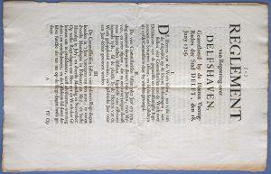 Reglement voor Delfshaven