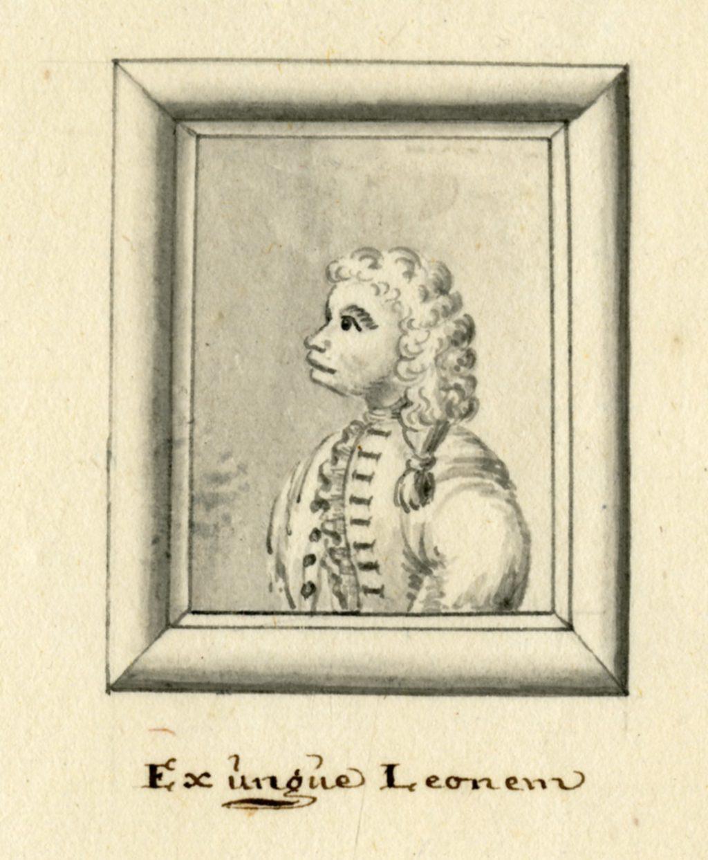 Portretje van stadhouder Willem IV door een anonieme tekenaar, circa 1748 (TMS 216033, uit Archief 1, inv.nr 512)
