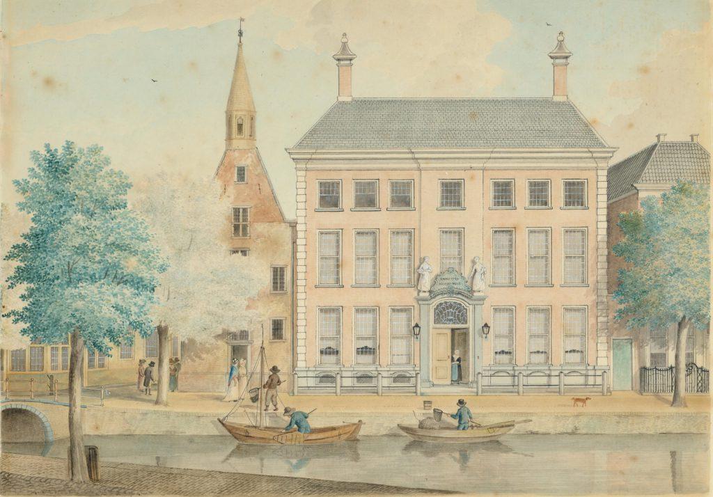 Aquarel van de nieuwbouw van het Meisjeshuis, 1769 (TMS 1356)