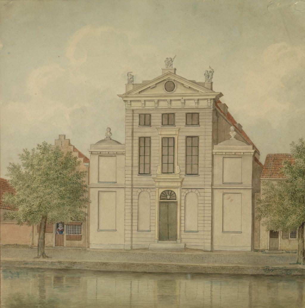Christo Sacrum aan het Rietveld, vermoedelijk getekend door Isaac van Haastert, circa 1810 (TMS 105088)