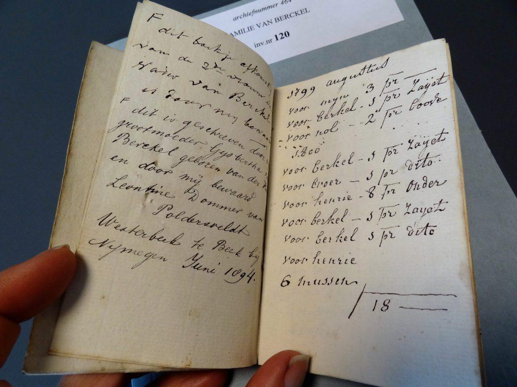 Cahier van M.C. van Tromputte met aantekeningen over het breien van sokken (464, inv.nr. 120 – I)