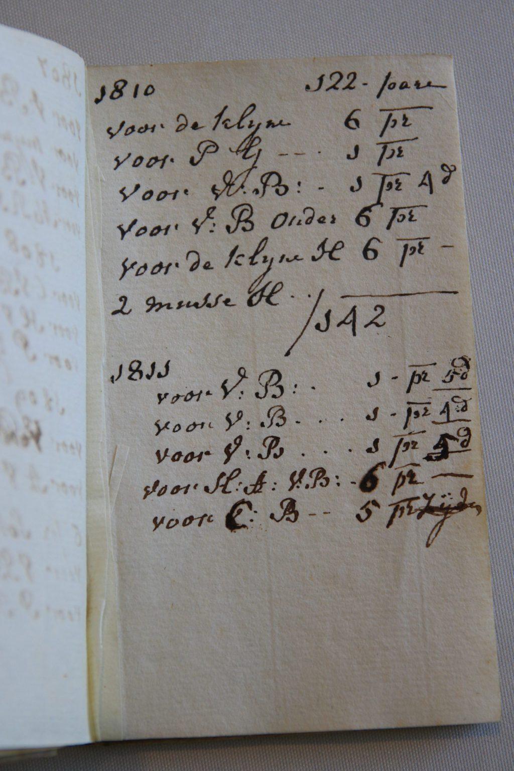 Laatste aantekening in het cahier van M.C. van Tromputte