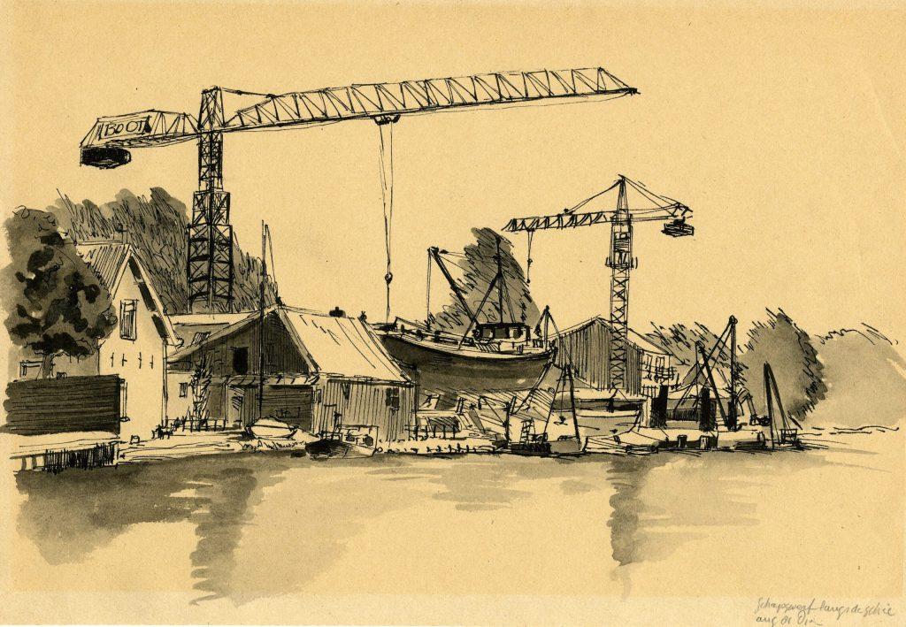 Dirk van Dien, Scheepswerf Boot aan de Rotterdamseweg 466, 1981 (TMS 3520)