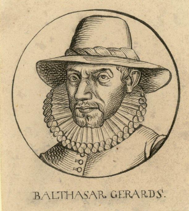 Portret van Balthasar Gerads, maker onbekend, ca. 1585 - 1800.