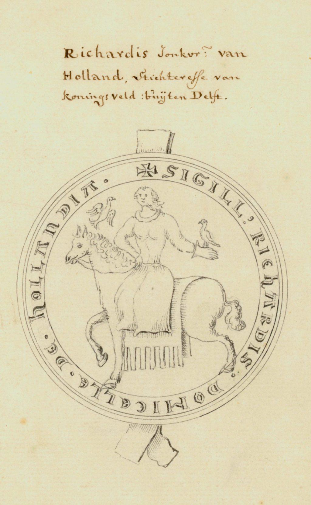 De twee zegels van Rikarde van Holland (TMS 73950 en 73949)