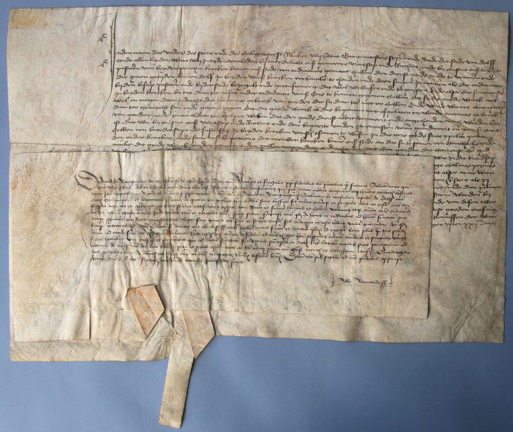 Oorkonde van David van Bourgondië, bisschop van Utrecht, 1462 (Archief 435, inv.nr 10, charter 5342)