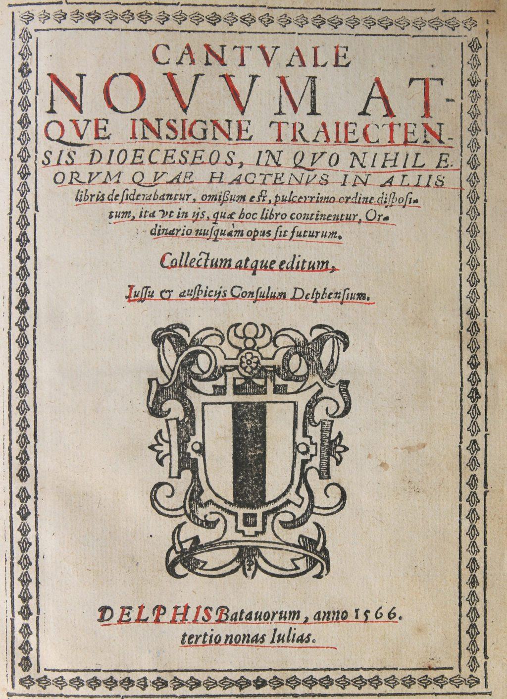 Titelpagina van Cantuale Novum (Bibliotheek, 59 C 26)