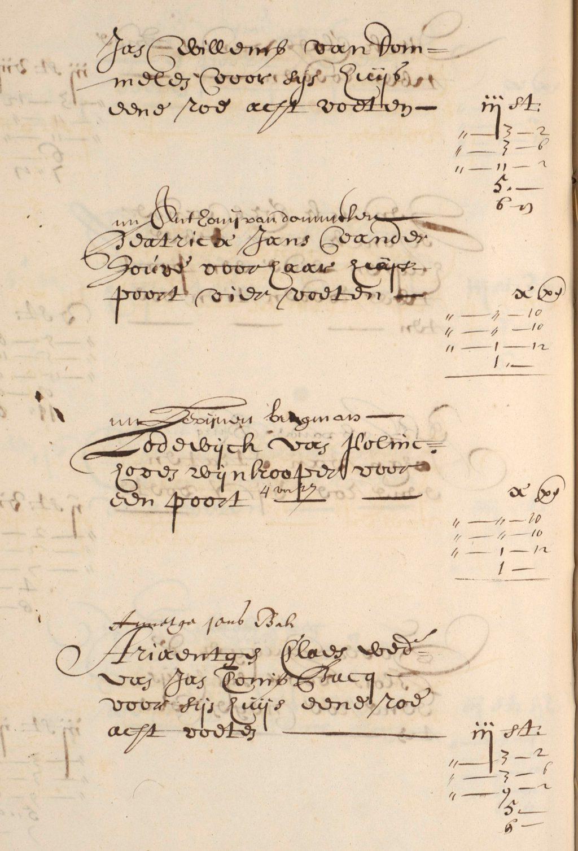 De bewuste pagina uit de 'Legger vant diepen der wateren binnen de stad Delft' uit 1667 (Archief 1 inv.nr 3510 f 224v)