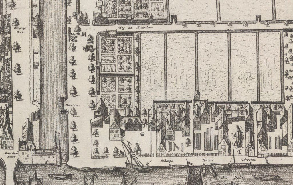 Detail van de Kaart Figuratief, 2e druk, 1703