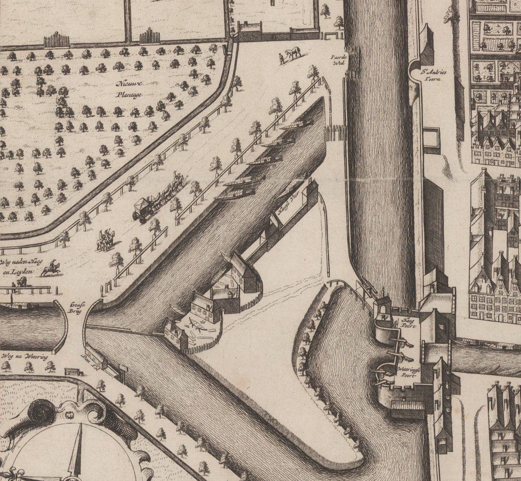 Detail van de Kaart Figuratief, 1e druk, 1678