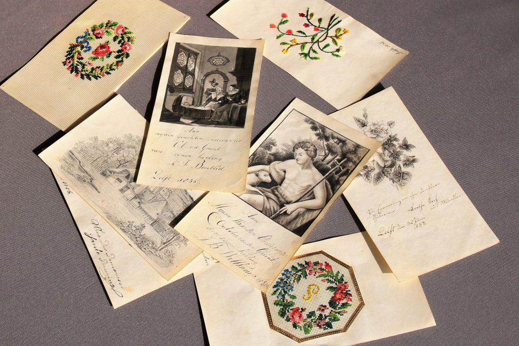 Tekeningen en gedichten, opgedragen aan C. Ouboter van der Griendt door zijn leerlingen, 1830-1862 (Archief 598, inv.nr 570)