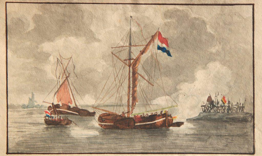 Carel Frederik Bombléd schonk dit werkje aan zijn leermeester C. Ouboter van der Griendt, 1835 (Archief 598, inv.nr 570)