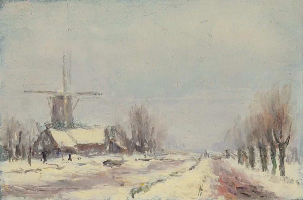 Jan Heesterman, Delfgauwseweg met Pauwmolen, 1917 (TMS 58379)