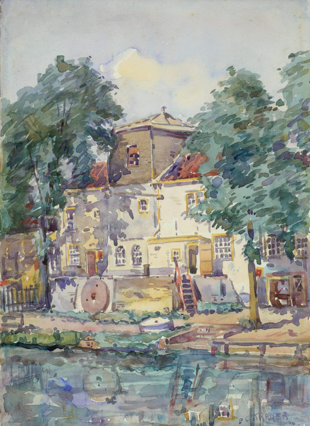 Piet Kramer, Voormalige oliemolen van Drost, De Otter, in de Phoenixstraat, 1917 (TMS 64868)