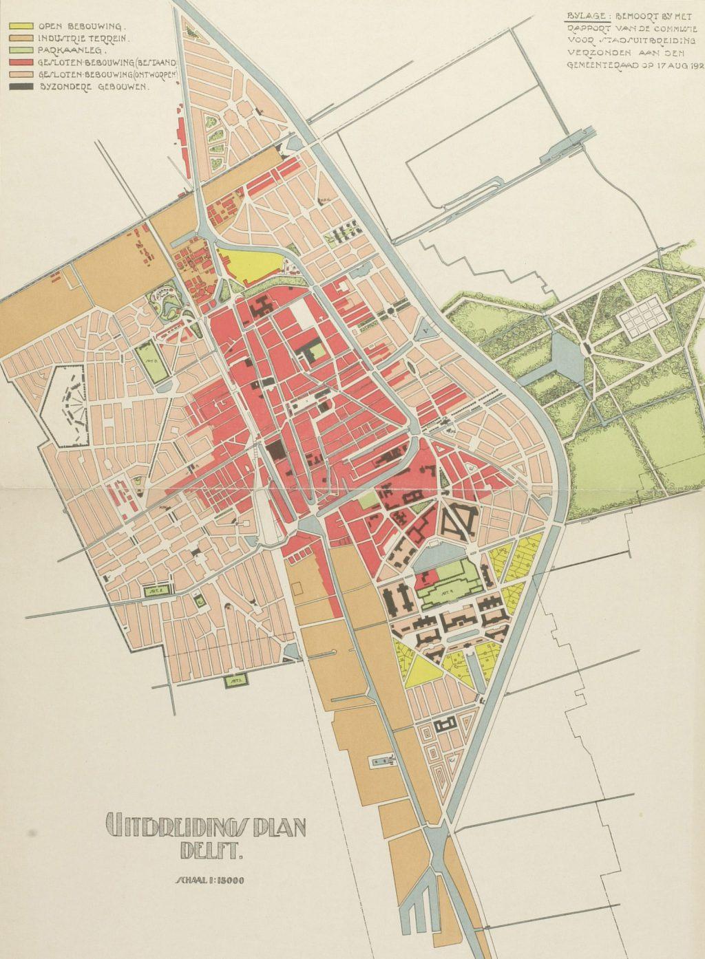 Uitbreidingsplan van de Commissie Berlage, 1921 (TMS 56386)