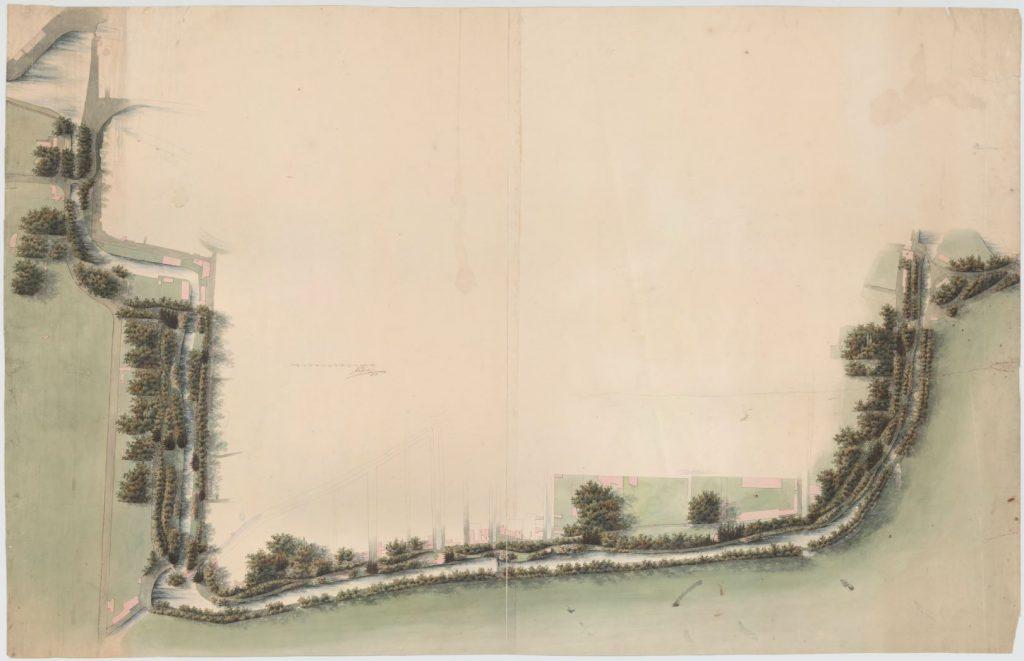 Ontwerp van de Zuidelijke Avenue door J.D. Zocher, 1837 (TMS 65852)