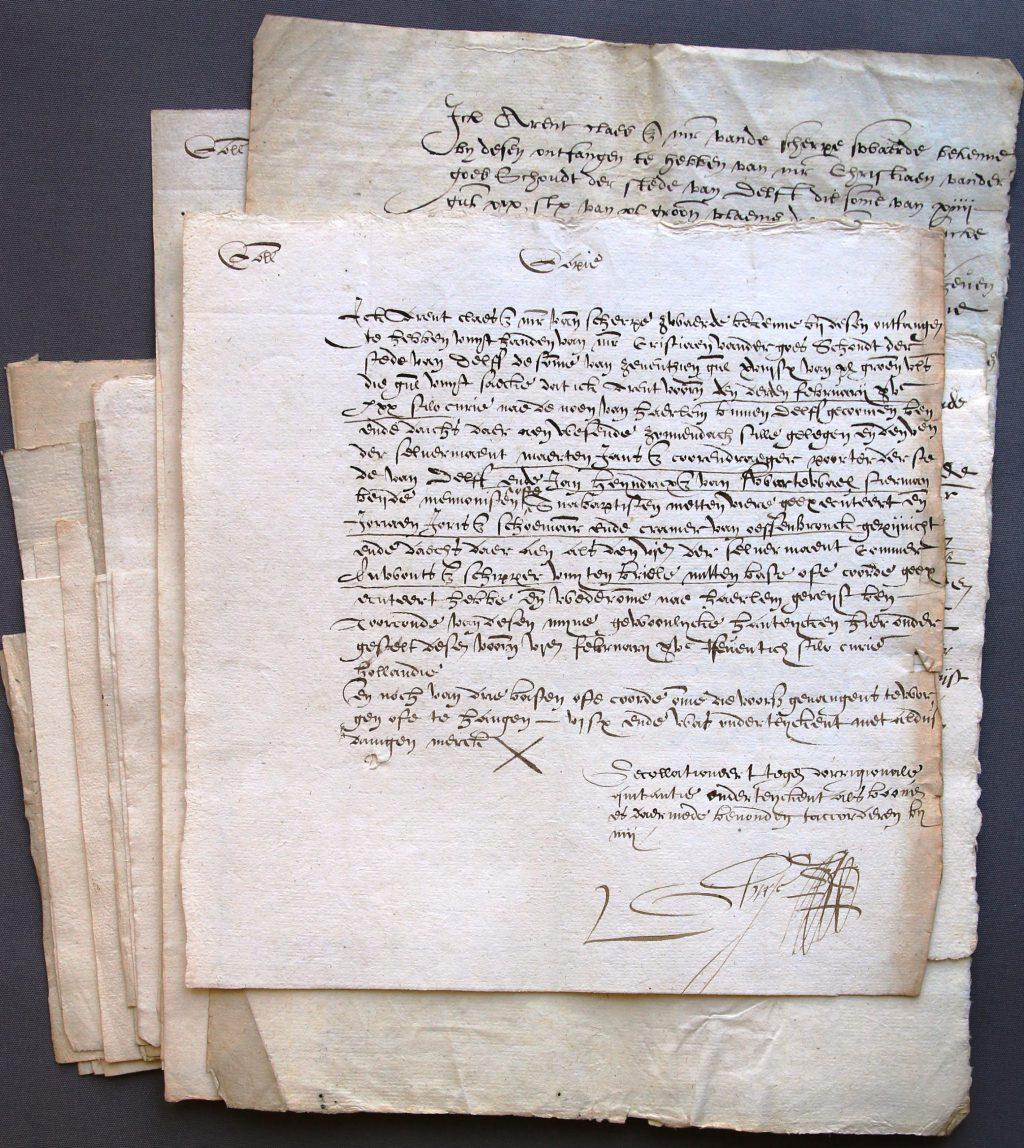 Kwitanties voor schout Christiaen van der Goes, 1571 (Archief 1, inv.nr 4794)