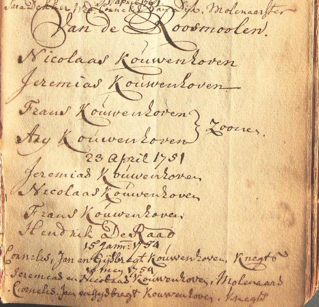Register met namen van personen die vergunning krijgen een bepaald beroep uit te oefenen, 1750-1806, folio 5 (Archief 1, inv.nr 2502)