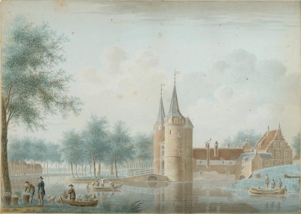 Tekening van de Oostpoort door Isaac van Ketweg, c. 1760 (TMS 58638)
