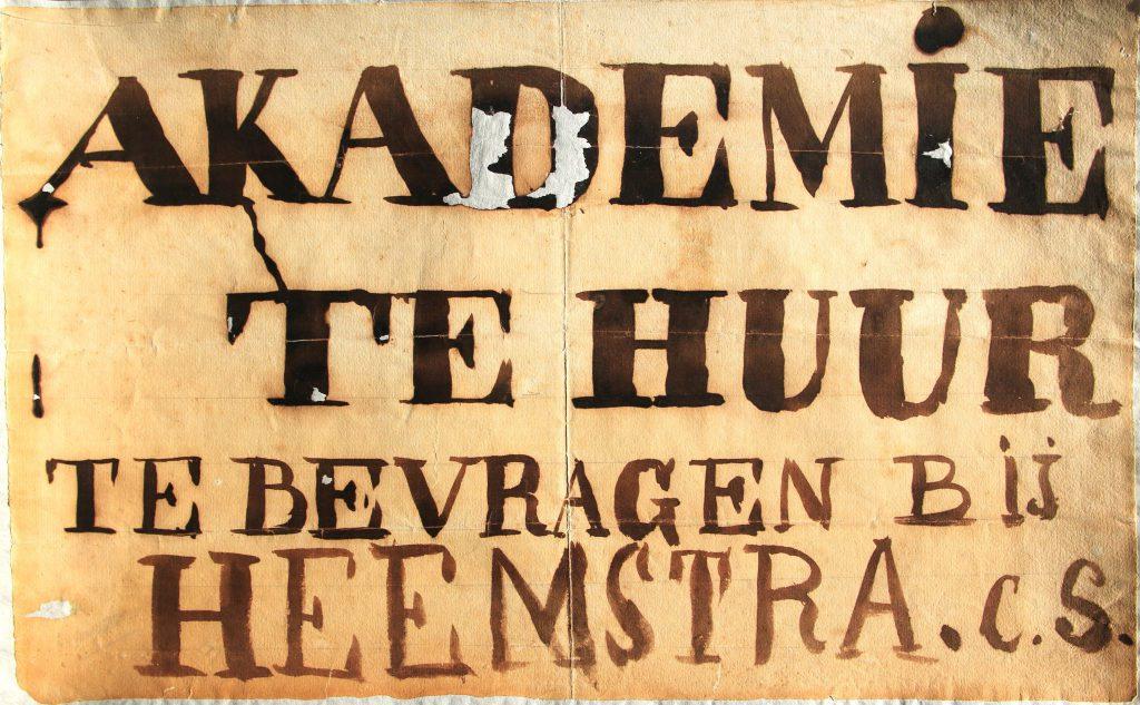 Protestaffiche na sluiting Koninklijke Akademie, 1861 (Archief 598, inv.nr 1557)