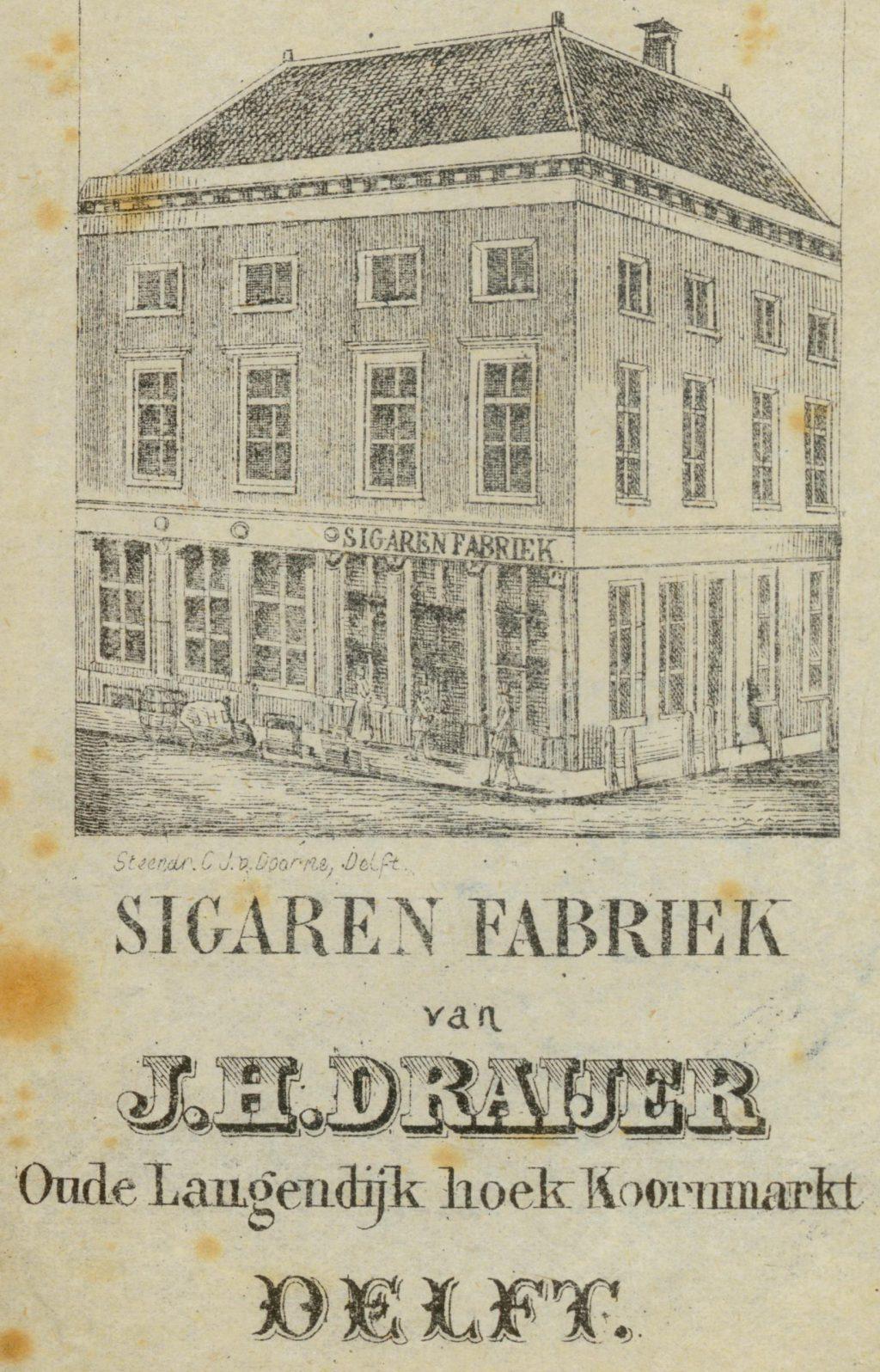 Reclame op tabakzakjes, 19e eeuw (TMS 25645)