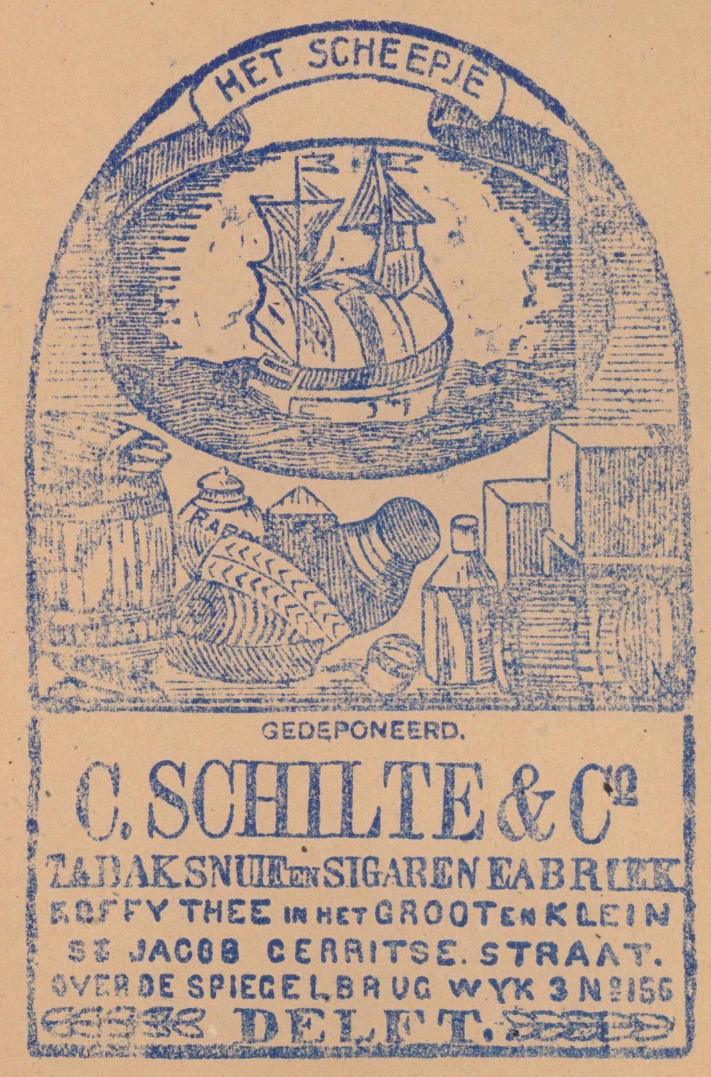 Reclame op tabakzakjes, 19e eeuw (TMS 61887)