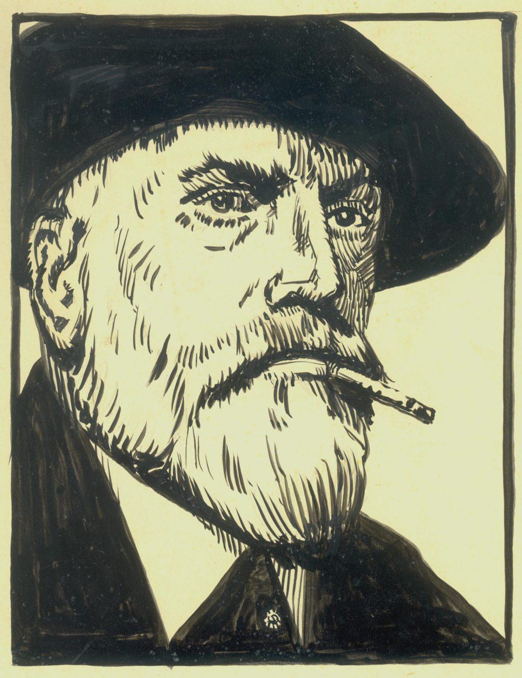Piet Kramer, zelfportret, ca. 1925 (TMS 75842)
