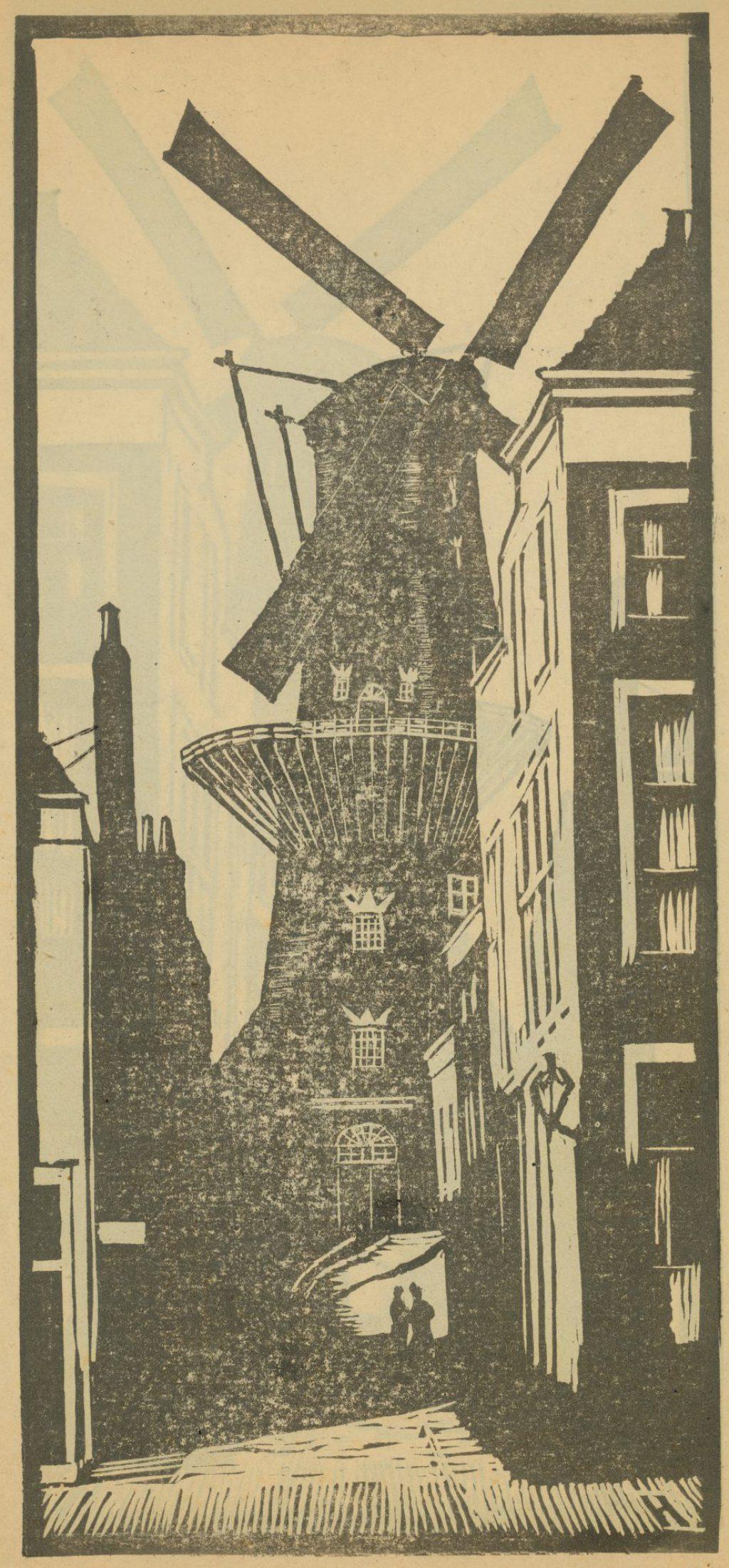 Afdruk van een linosnede, Jan Heesterman, 1920 (TMS 68227)