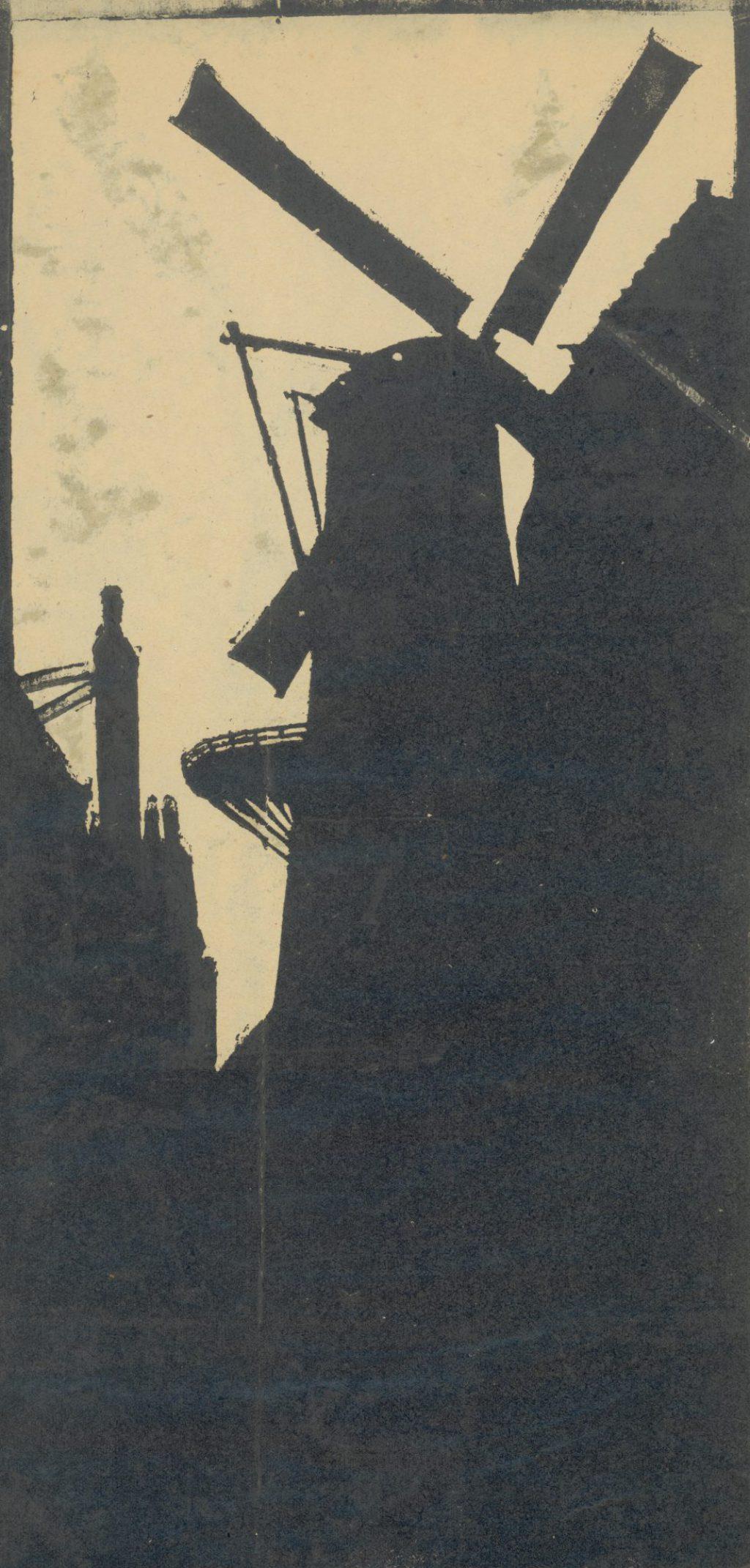 Afdruk van een linosnede, Jan Heesterman, 1920 (TMS 68229)
