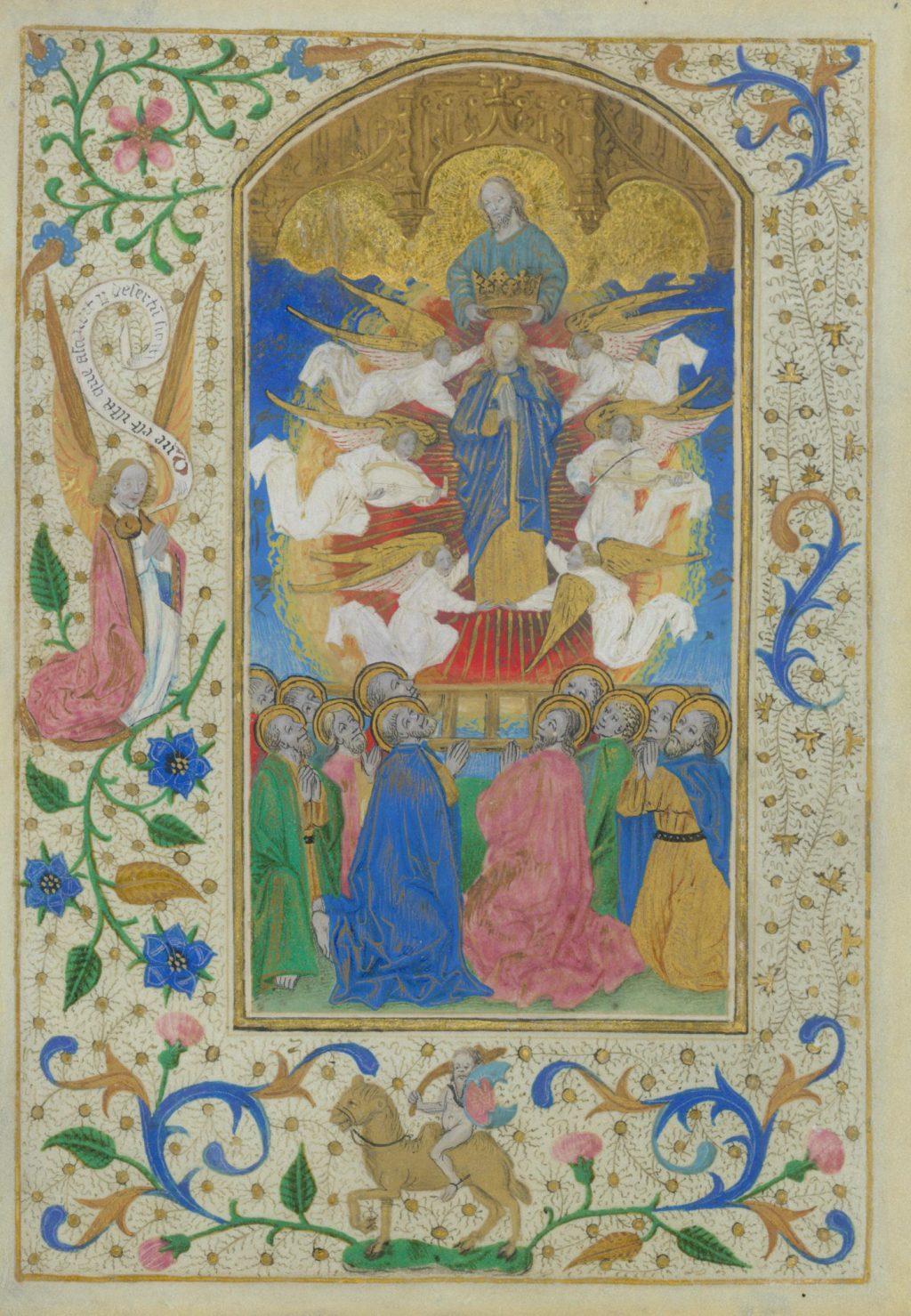 Pagina uit een Delfts getijdenboek, c. 1480 (TMS 76648)