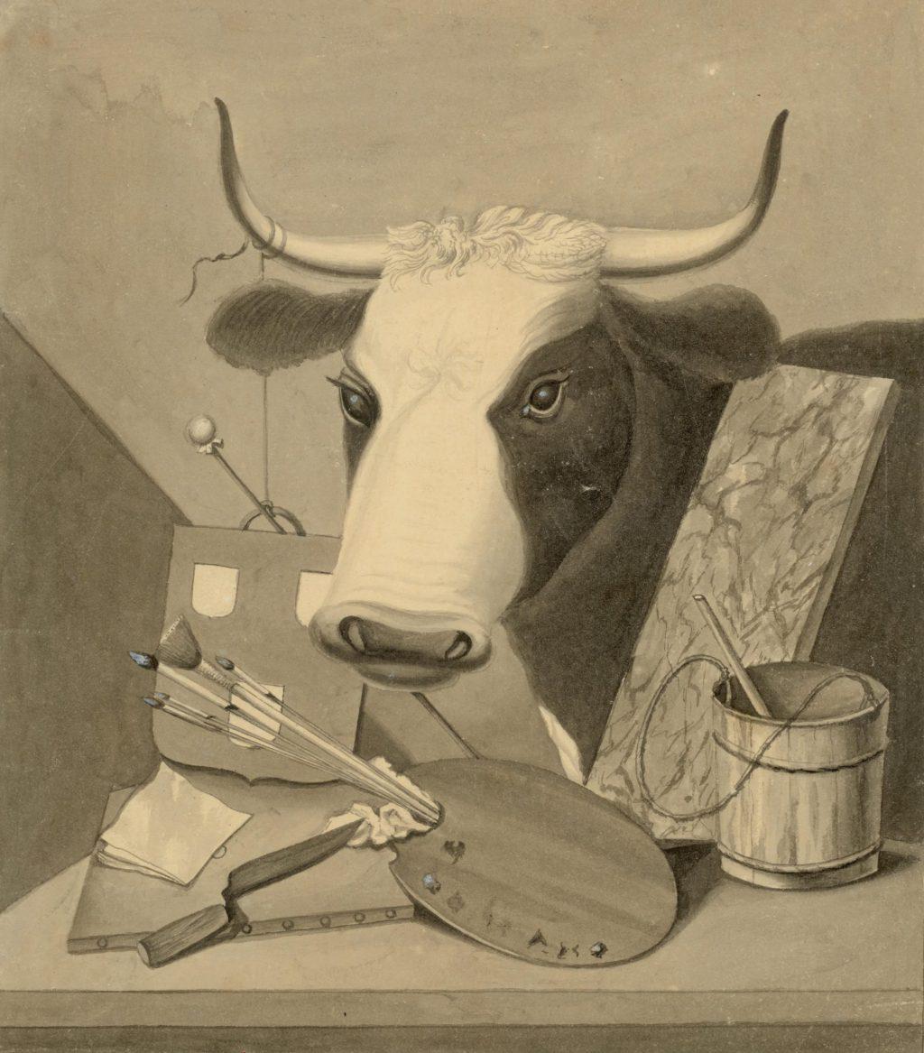 Tekening van de meesterproef van de schilders, 1795 (TMS 83566)