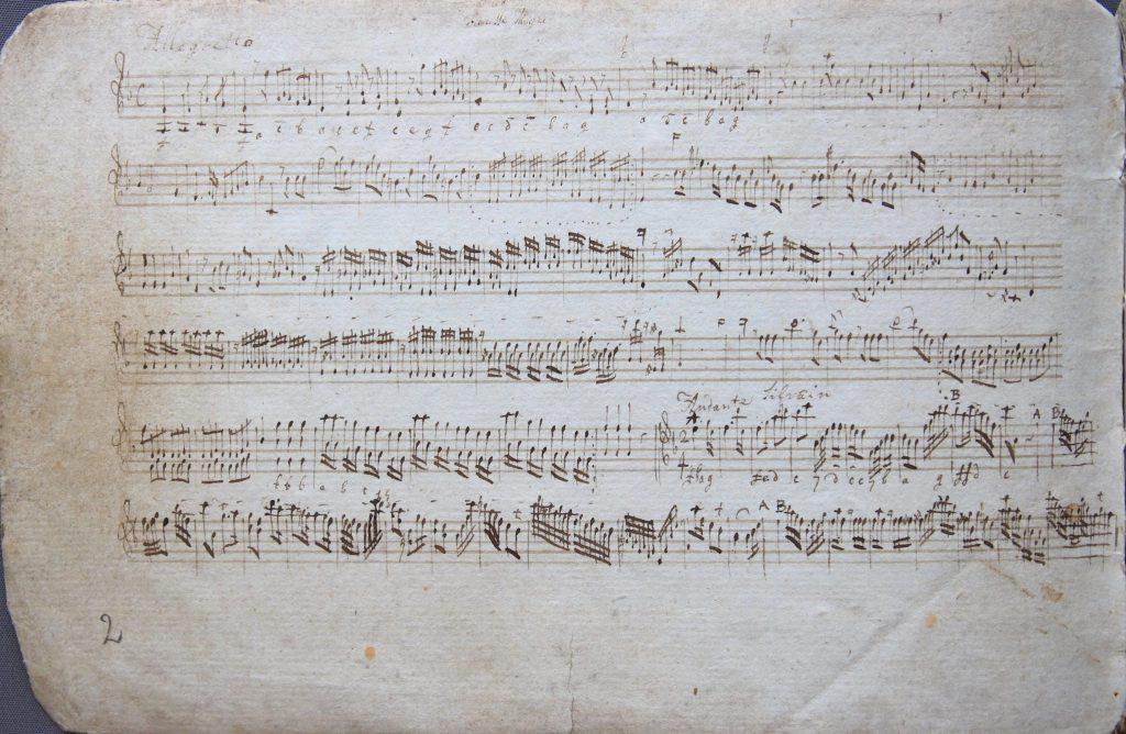 Muziek voor het carillon in de toren van de Nieuwe Kerk, 1826 (Archief 191, inv.nr 10)