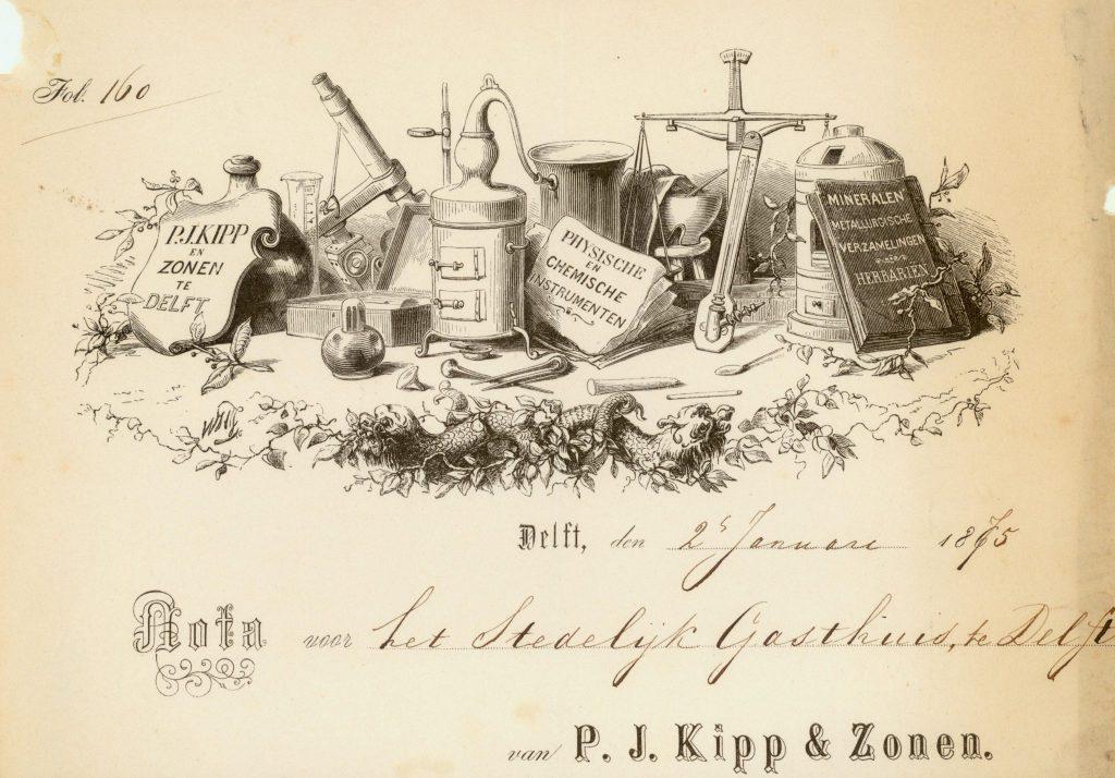 Briefhoofd van P.J. Kipp & Zonen, ca. 1860 [TMS 6841]