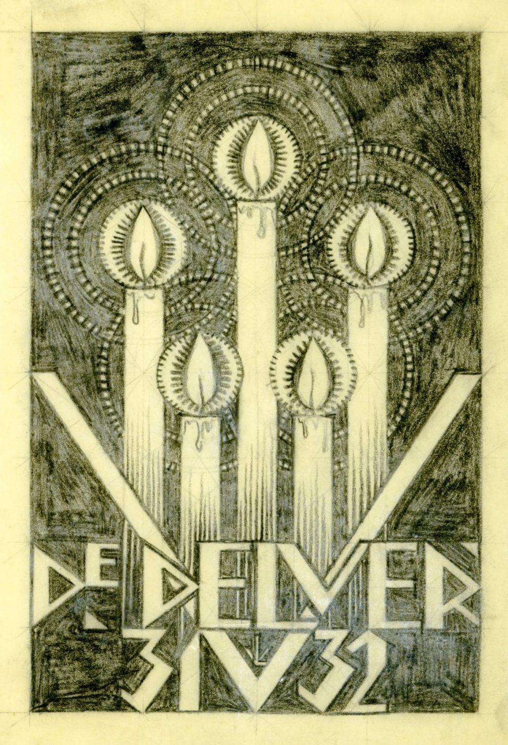 Rijk van Lavieren, Ontwerp voor tijdschrift De Delver, 1931-1932 (TMS 139225)