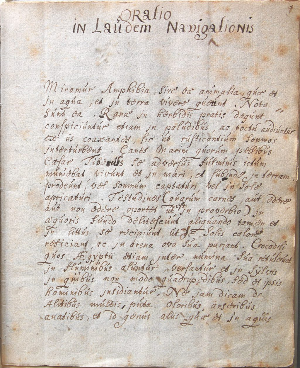 De oratie waarmee Hugo de Groot omstreeks 1591 de Latijnse School afsloot (Archief 598, inv.nr 596)