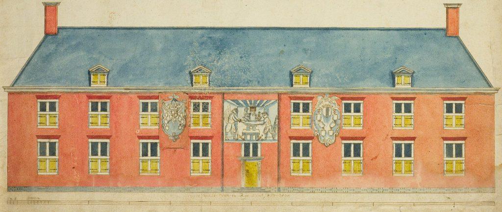 Ontwerp voor de voorgevel van het Tuchthuis, c. 1665 (TMS-nummer 644497)