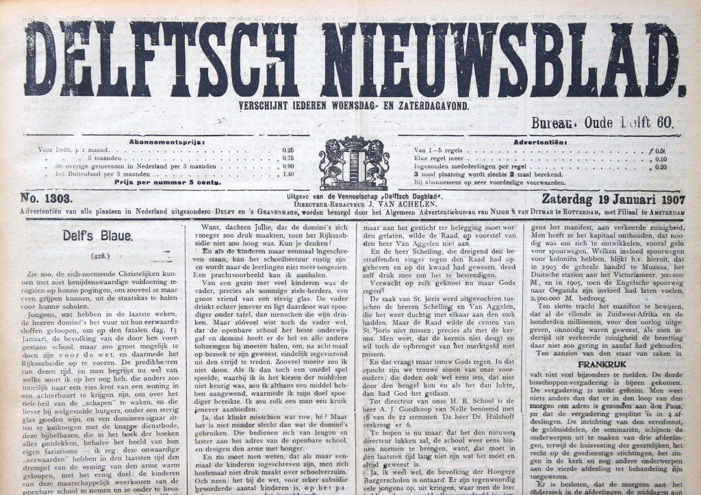 Delftsch Nieuwsblad, 19 januari 1917