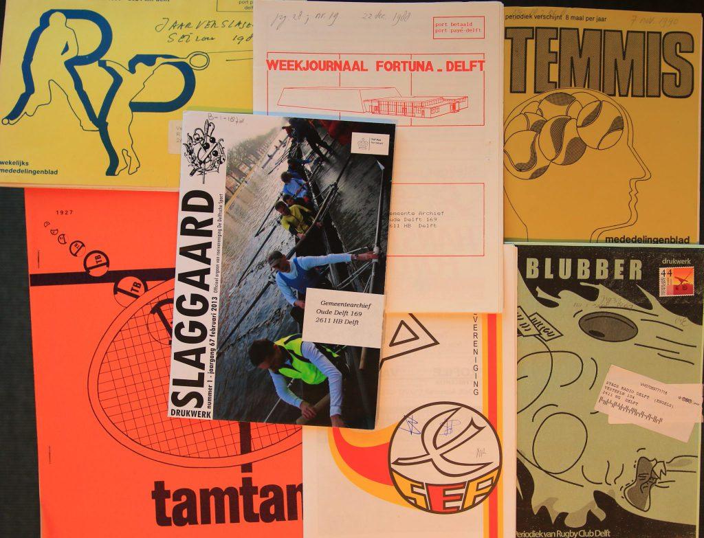 Het Stadsarchief bezit Delftse clubbladen in soorten en maten