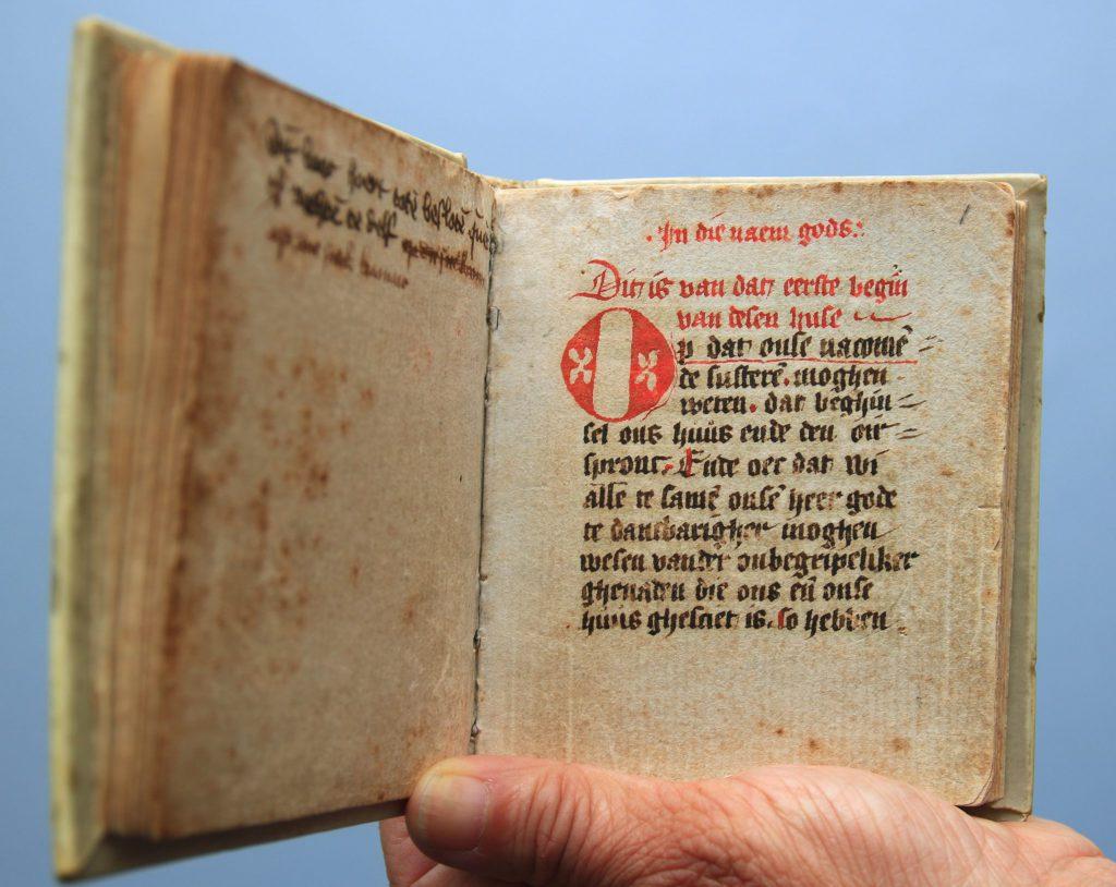 Het kroniekje van het Sint-Agathaklooster, geschreven omstreeks 1441 (Archief 598, inv.nr 575)