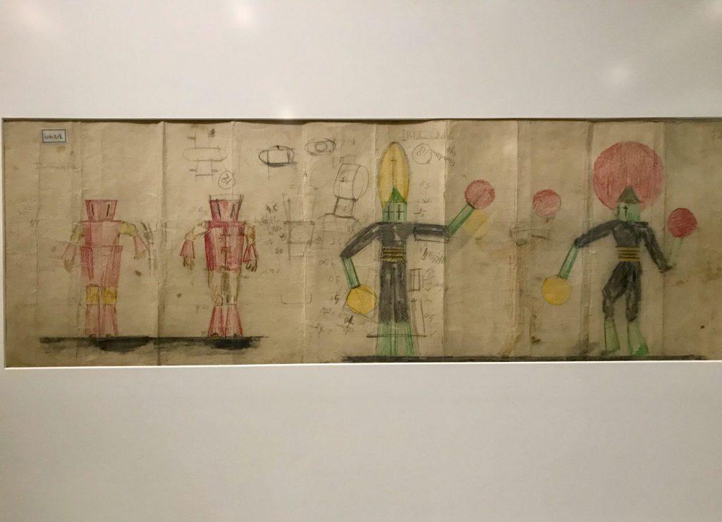 Ontwerptekeningen van Piet Donk voor kostuums van het lustrum van het Delftsch Studenten Corps (1928) potlood op papier
