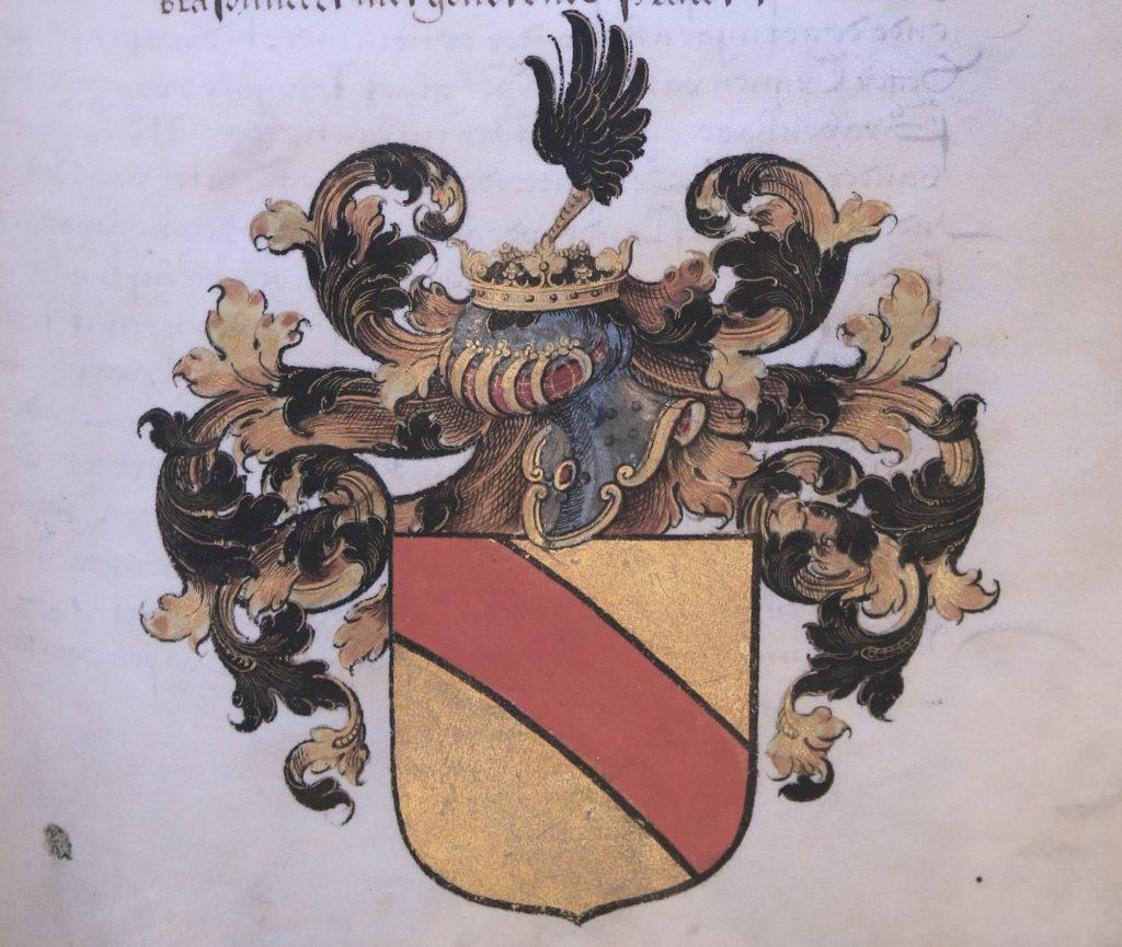 Wapen van de familie Van der Burch. (Archief 466, inv.nr 1, folio 15)