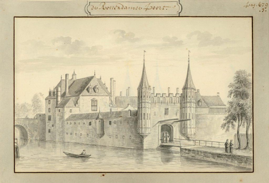 De Rotterdamsepoort in het Album Rademaker, begin achttiende eeuw (TMS 5721)