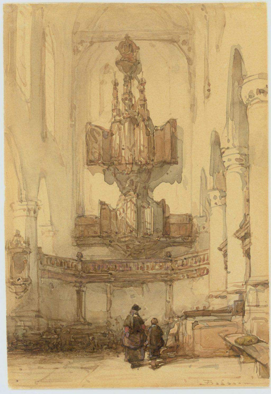 Johannes Bosboom, Orgel in de Oude Kerk, vlak voor de sloop in 1856 (TMS 63457)