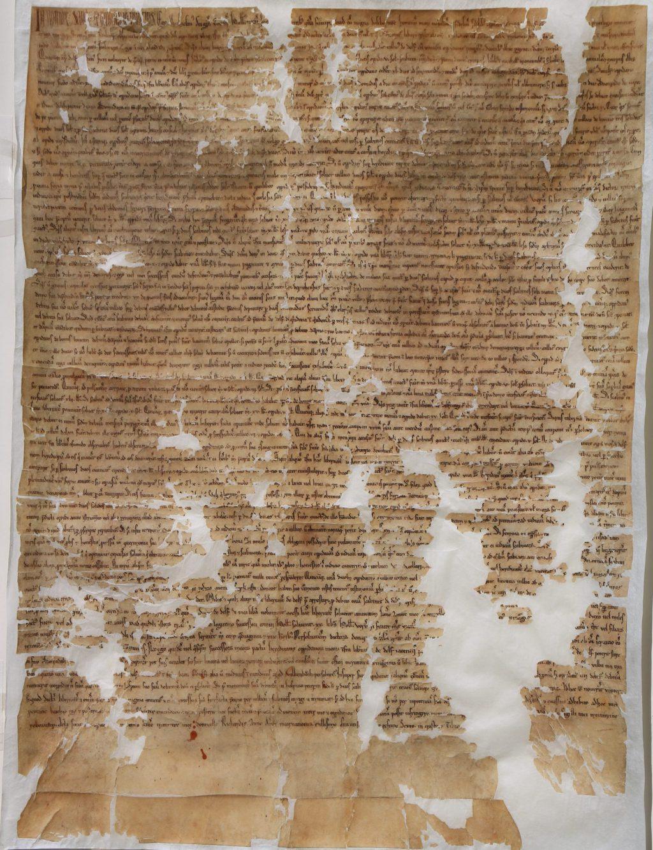 De originele stadsrechtoorkonde van 15 april 1246. (Archief 1, inv.nr 1, charter 9084)