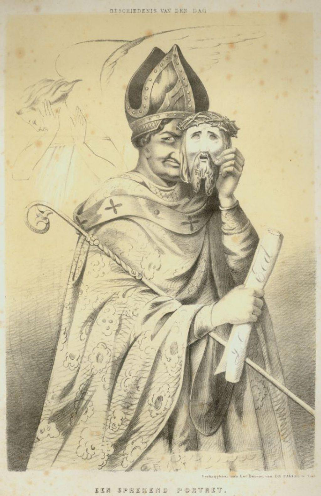Spotprent op het katholicisme, 1853. (TMS 91565)