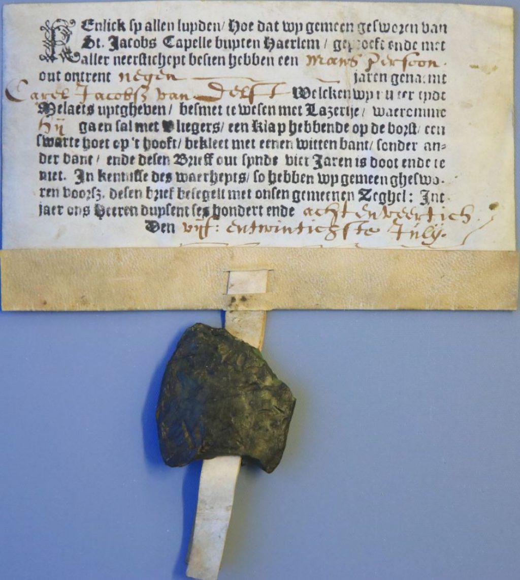 Een vuilbrief voor Carel Jacobsz van Delft, 25 juli 1648. (Archief 447, inv.nr 2086)
