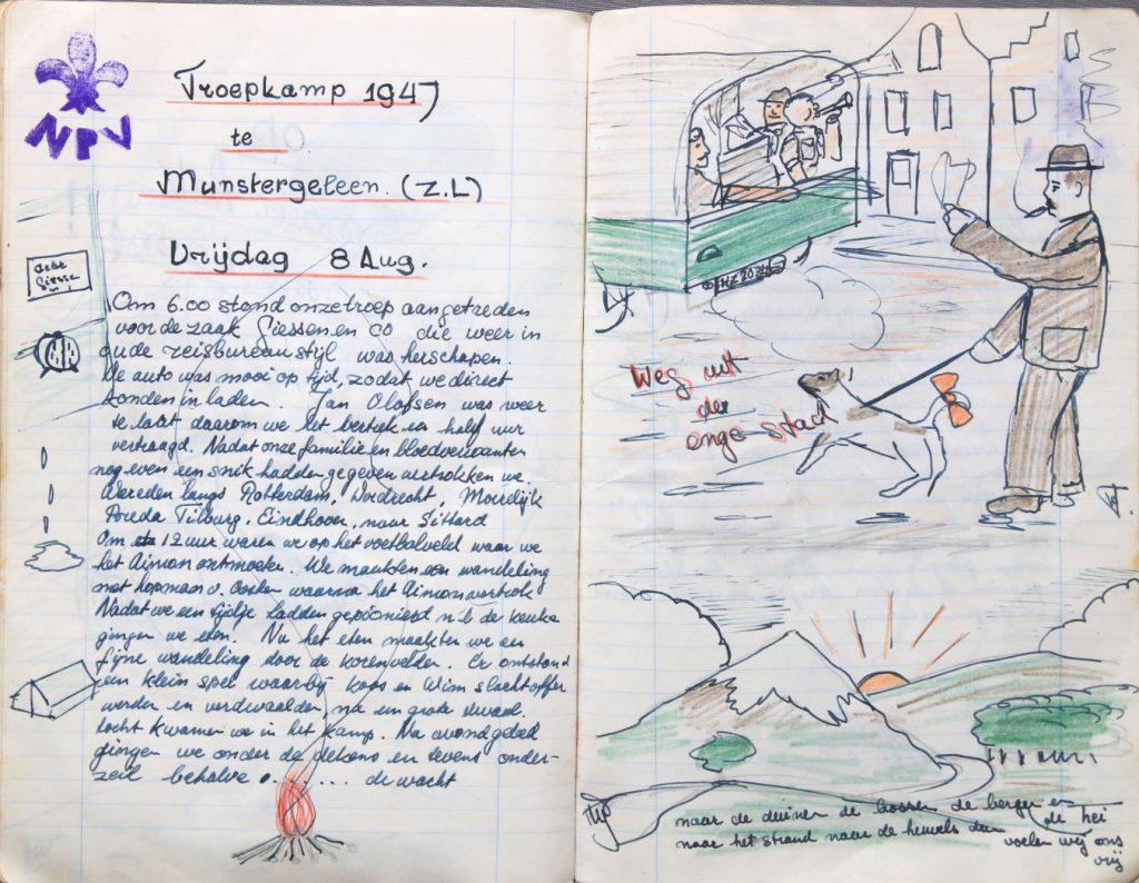 Logboek van de patrouille Bevers van padvindersgroep Marnix van Sint Aldegonde, 1948-1950 (Archief 372 inv.nr 7)