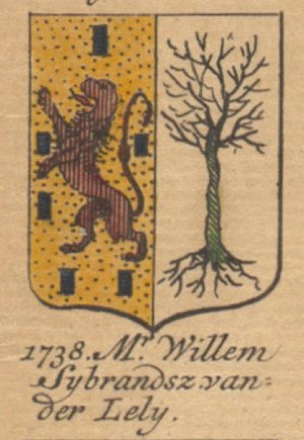 Het wapen van Willem van der Lely (TMS 114611, detail)