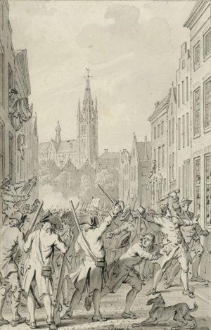 Hagenaars plunderen Delft