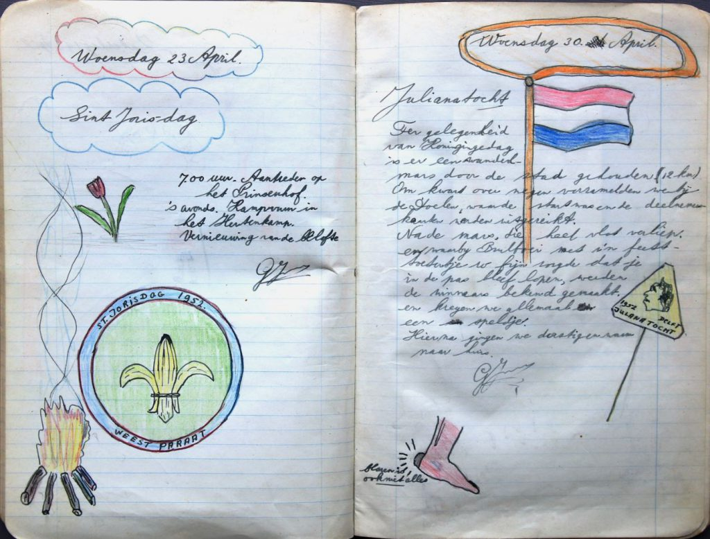 Logboek van de patrouille Bevers van padvindersgroep Marnix van Sint Aldegonde, 1952-1953 (Archief 372 inv.nr 10)